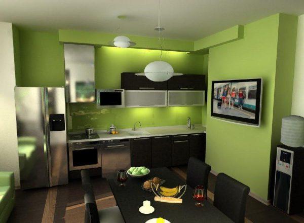 фото зеленой кухни