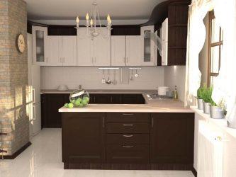 фото коричневой кухни Елена
