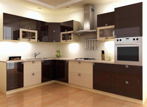 фото коричневой кухни Алегро