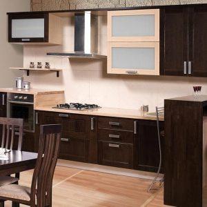 фото кухни коричневой