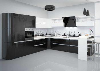 фото черной кухни