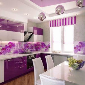 фото фиолетовой кухни