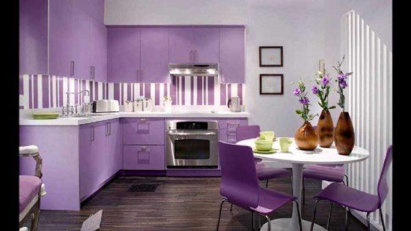 фото сиреневой кухни