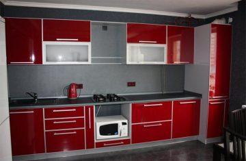 фото красной кухни