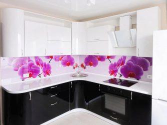 """Кухня пластик """"Орхидея"""""""