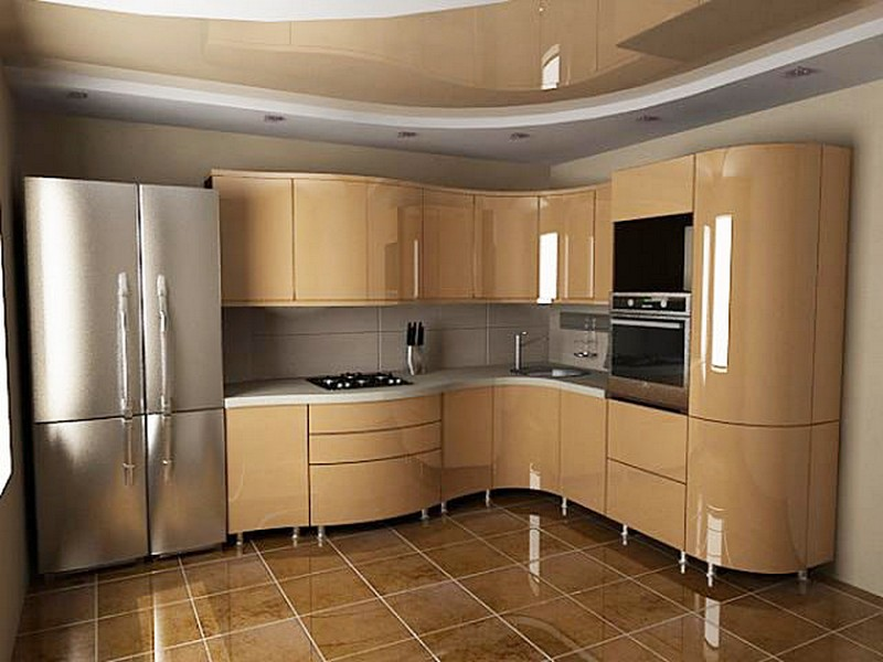 самые кухни мдф с гнутыми фасадами фото активное