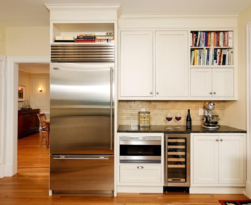 как сделать кухонный шкаф над холодильником фото нас