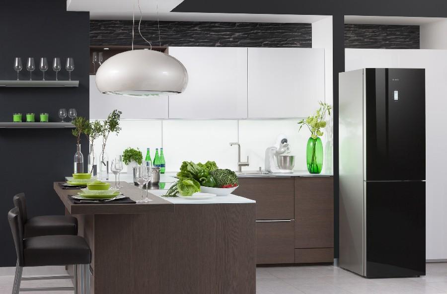 кухни с черными холодильниками фото завитке закрепите