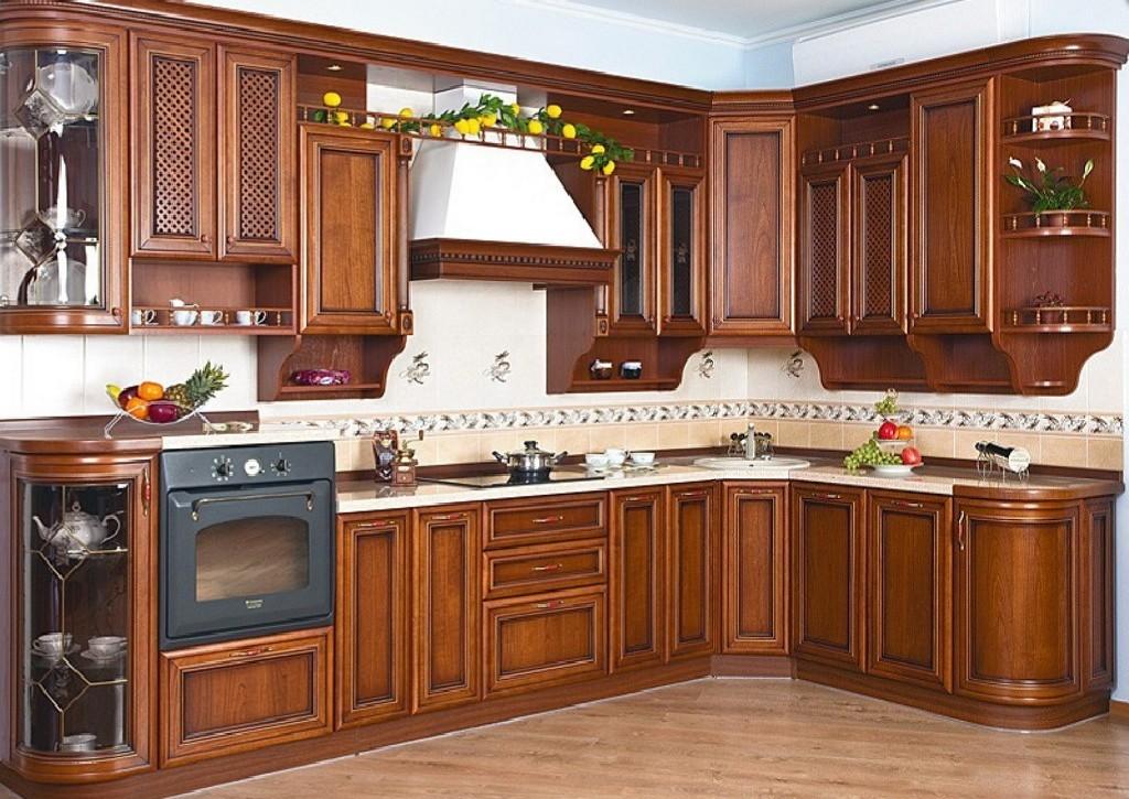 Кухни угловые массив классика фото севастополя