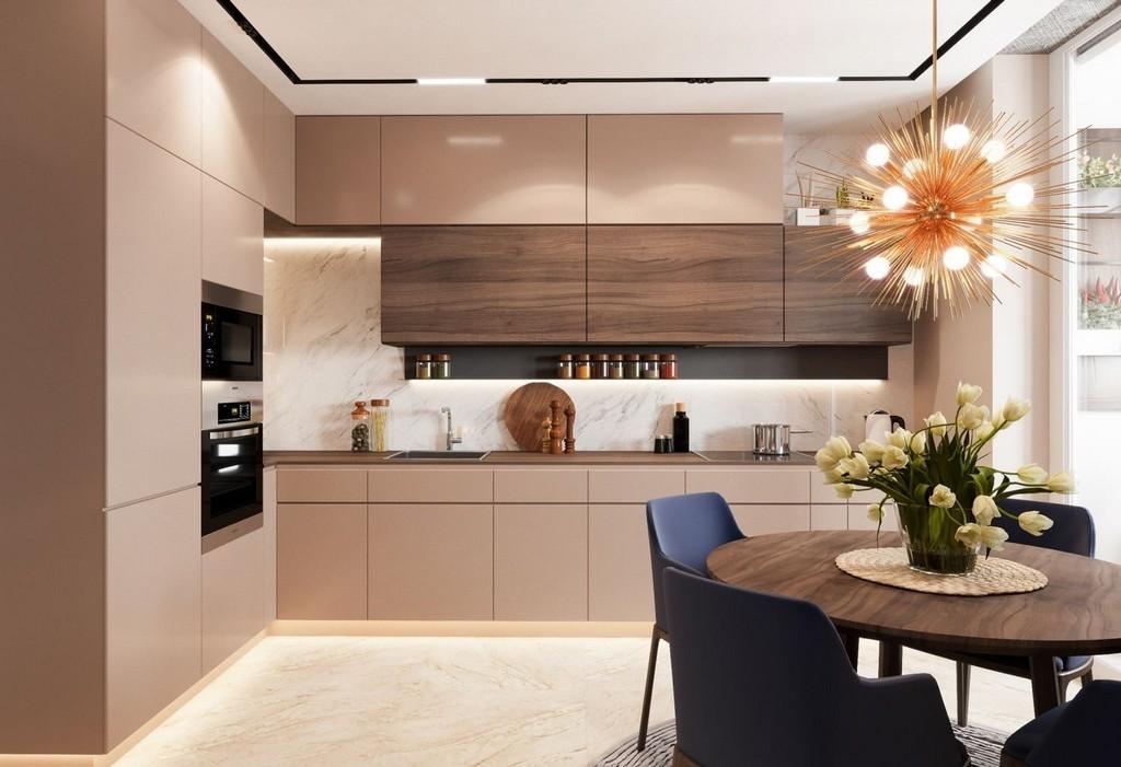 дизайн кухни в бежевых тонах фото всегда