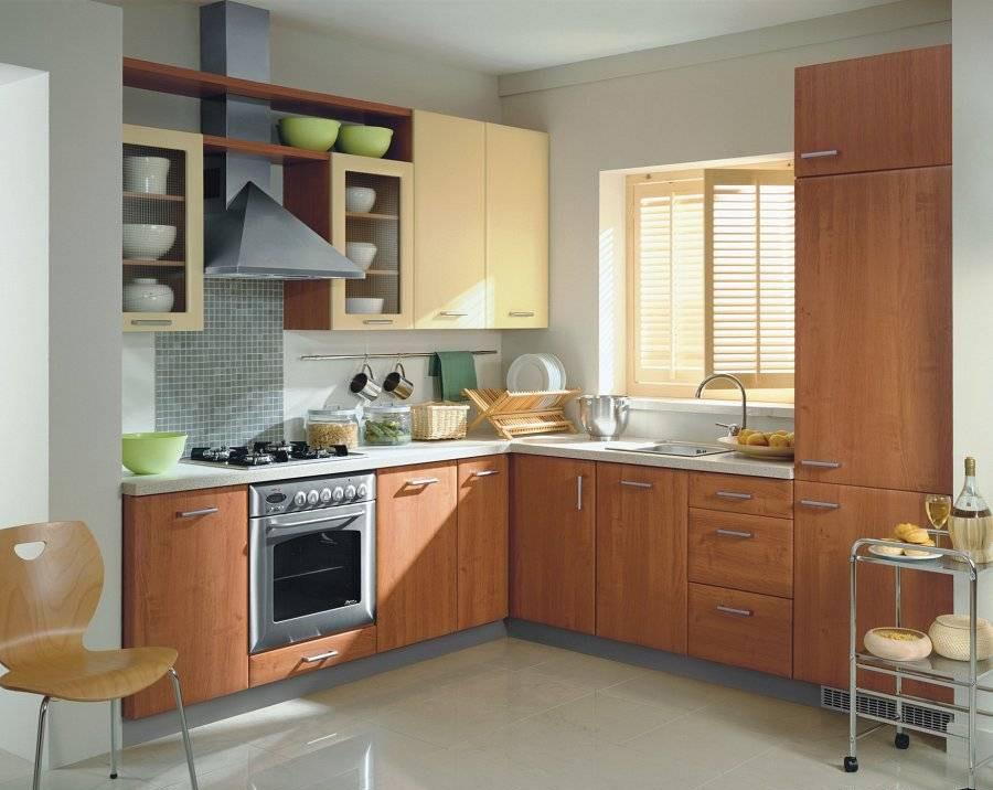 цвет улучшает дизайн угловой кухни фотогалерея том