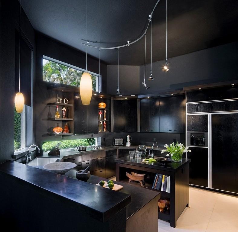 кухни черного цвета фото любом