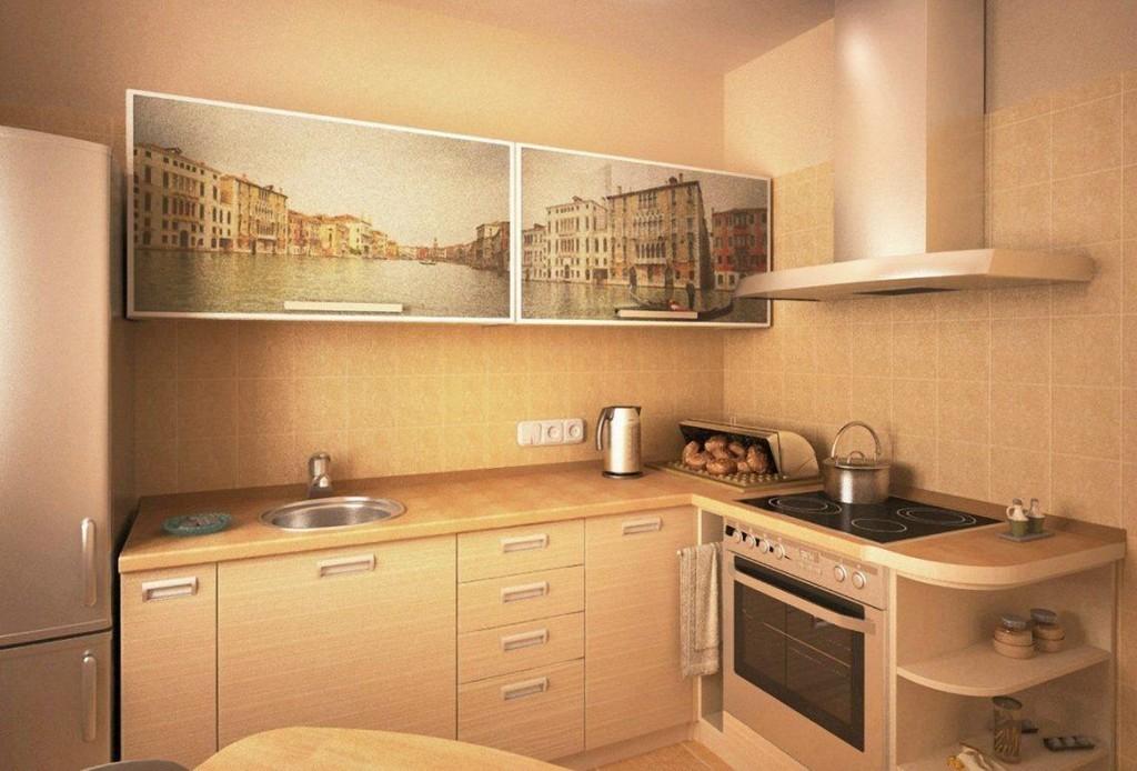 Дизайн бело коричневой кухни фото позже компания