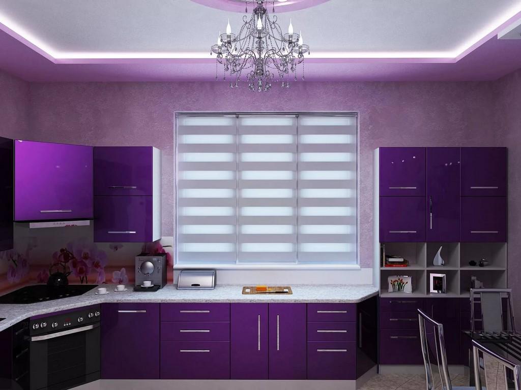 сов обои для фиолетовой кухни фото красивая