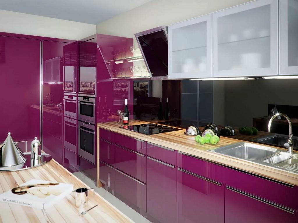 почему красивая фиолетовая кухня фото это