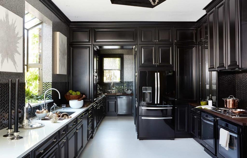 под кухни черного цвета фото спальне такой